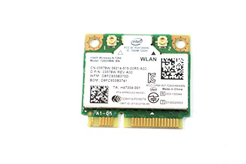 Intel Wireless-n Adapter (Intel 7260.HMWG. R Dual Band WirelessAC 7260 Network Adapter PCI Express Half Mini Card 802.11 b/a/g/n/ac)