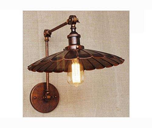 AllureFeng industrielle Antik Rost Wand Lampe Swing Arm Wandbeleuchtung für Arbeitszimmer Badezimmer -