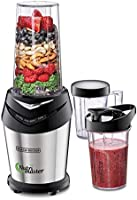 Black+Decker 600W NutriMaster Blender/Smoothie Maker, Silver/Black, NE600-B5, 2 Year Warranty