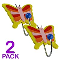 Childrens Butterfly Coat Hooks - Door Wall Hooks