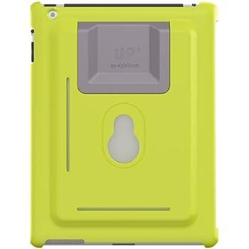 XFlat UP120G - 3in1 iPad Wandhalterung und Standfuß System für iPad mini, Farbe Schutzhülle: grün, Standfuß in 4 Positionen nutzbar für 25° oder 60° vertikal und 25° oder 60° horizontal