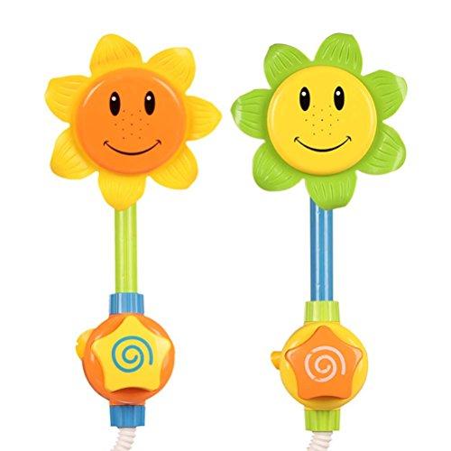 Demarkt Duschspielzeug Baby Sonnenblume Badespielzeug Dusche Spray Bad Spiel Wasser Spielzeug Wasserpumpe Spiel Geschenke Zufällige Farbe (Für Geschenke Baby-dusche-spiele)