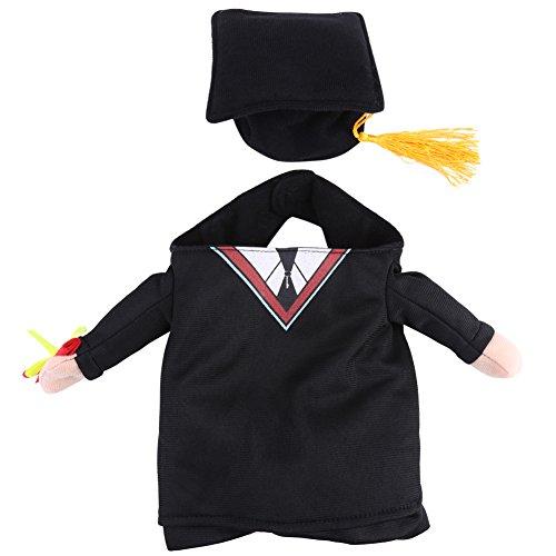 Hundekatzen Haustier Kleidung bewaffnet Gog Cat Costumes mit Hut für tägliche Halloween Weihnachtsfeier(S) (Lustig, Leicht Zu Machen Halloween-kostüme)