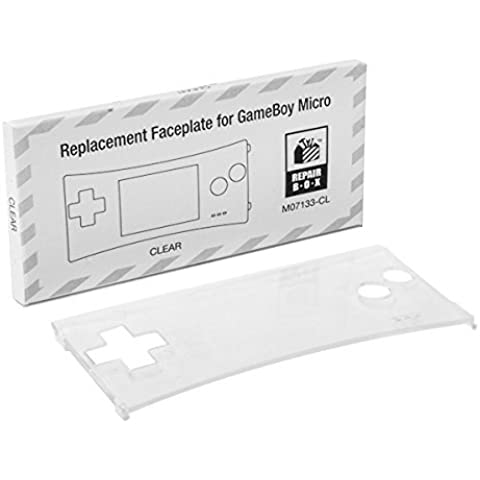 Game Boy Micro Replacement Faceplate (Clear) by RepairBox