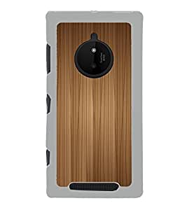 PrintVisa Vertical Wooden Pattern High Glossy Metal Designer Back Case Cover for Microsoft Lumia 830 :: Nokia Lumia 830