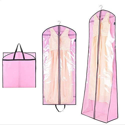 Hochzeitskleid Kleiderhüllen, Atmungsaktiv (3Er Pack) Hochzeitskleider Mantel Kleiderhüllen Taschen Mottenresistent Hängende Taschen mit Reißverschluss für Langes Kleid Tanzkostüme Anzüge Mäntel Eleg