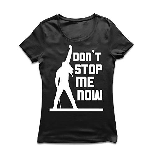 lepni.me Frauen T-Shirt Don't Stop me Now! Fan Shirts, Musiker Geschenke, Rock Kleidung (Small Schwarz Mehrfarben) - Besten Freund Adult T-shirt