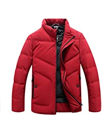 GKKXUE Piumino Corto da Uomo Colletto Invernale con Collo alla Moda in  Cotone Giacca Sottile e 4c899be5ded