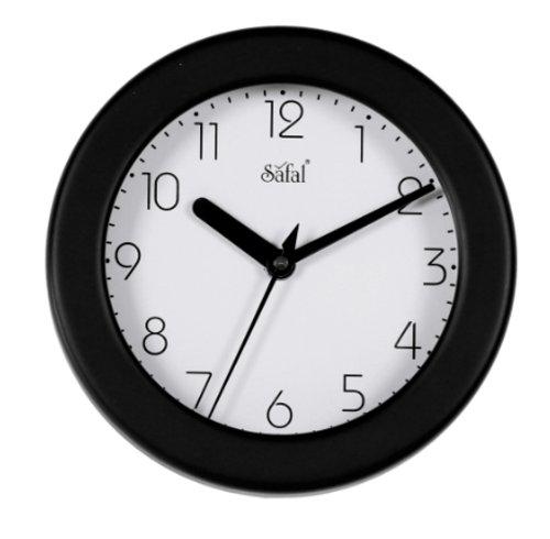 Safal Wooden Wall Clock (17cm x 17cm, Black, SQ 1073)