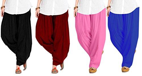 Spangel Fashion Women's Patiala Bottoms(4combo patiyala_BMPBL _multicoloured_Free Size)