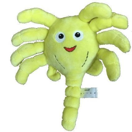 "Yellow Alien Face Hugger 8"" Plush Soft Toy"