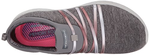 Skechers Womens/Ladies Burst Alter Ego Slip On Textile Casual Trainers Grau
