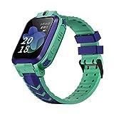 Pulsera Inteligente Reloj Despertador con Rastreador para Niños Reloj De GPS A Prueba De Agua para Niños Y Niñas Reloj De Llamada Anti Pérdida De Cámara Verde
