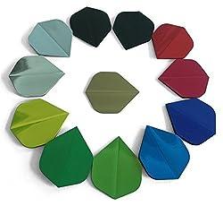 10 Sets/ 30 Pcs 100% Pure Colors Wide Size Dart Flights Extra Thick Long Life Wholesale Top Grade Dart Flights Sets