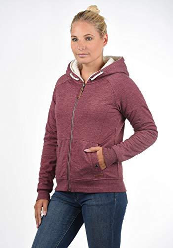 DESIRES Mandy Pile Damen Sweatshirt Pullover Pulli Mit Teddy-Futter, Größe:XS, Farbe:Wine Re P (P8985) - 2