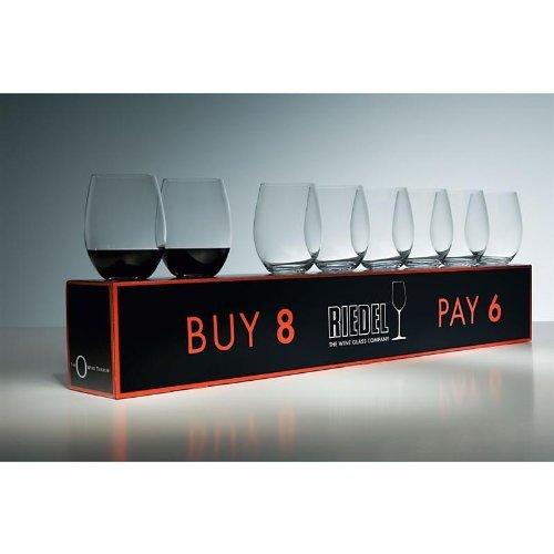 Riedel O Cabernet/Merlot Wine Tumbler Sets, Set: Set of 8 by Riedel