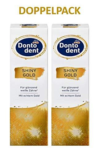 Dontodent Zahnpasta Shiny Gold (2x75 ml) - Original-Doppelpack von primeservice24®