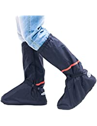 Zilee Cubrezapatillas Impermeable Botas de Agua - Cubiertas de Zapatos Antideslizante Lluvia Botas Reutilizables Calzado Fundas