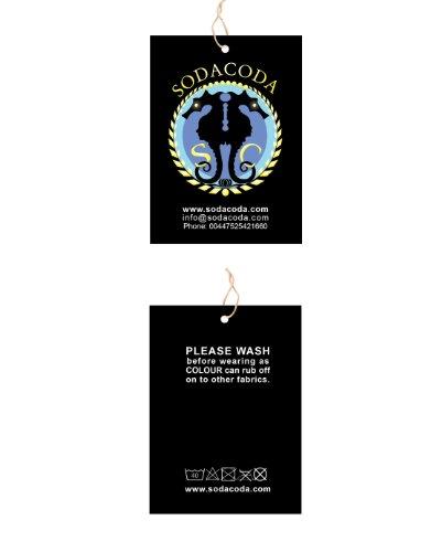 SODACODA Soutien-gorge style Ahh Bra rembourré sportif - Top Sport Bra - pastel couleurs , avec coussinets amovibles (S-XXL) Pastel Bleu