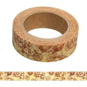 Ruban adhesif Washi Tape Engrenages 15mm x 15m