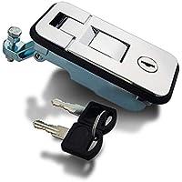 LXH-SH Bloquear el Enganche de Remolque Trailer Lock Chrome RV Lock for la Caja de Herramientas usando la Cerradura de la Puerta del Remolque Plano de Bloqueo el Bloque de Remolque