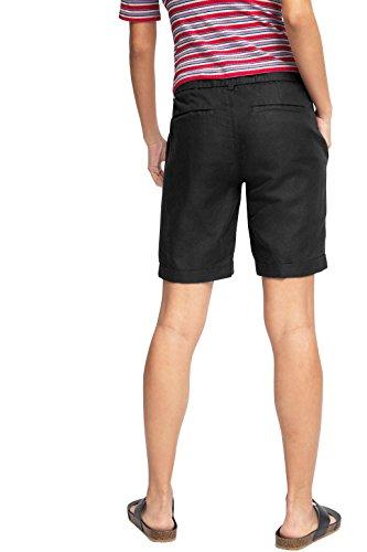edc by Esprit 046cc1c012 - With Linen - Bermuda - Shorts - Femme Noir (BLACK 001)