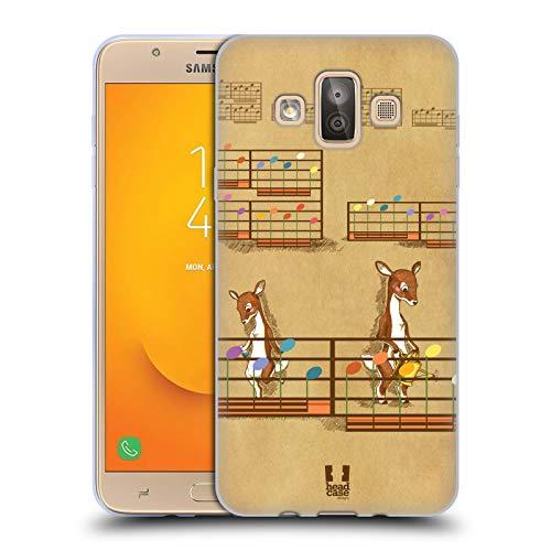 Head Case Designs Fiore Partitur Soft Gel Hülle für Samsung Galaxy J7 Duo (2018)