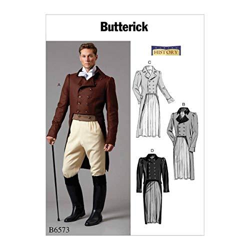 Butterick Patterns Herren Jacke B6573MWW - Mccalls Patterns Kostüm Historische