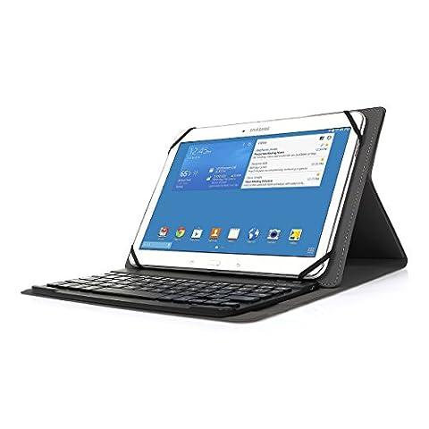 Clavier Bluetooth AZERTY français, CoastaCloud Étui Housse Magnétique Wireless Keyboard pour Tablette 9.0-10.5