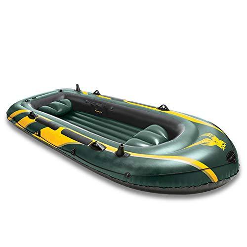 Dmbhw 4-person canotto gonfiabile il motore può essere installato scialuppa di salvataggio gommone marine addensare materiale in pvc 351×145×48cm con oars e pompa d'aria