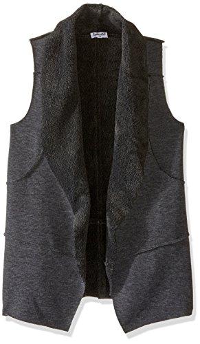 Splendid Big Girls' Faux Fur Vest, Charcoal Grey Heather, 10 (Big Kids Charcoal Bekleidung)