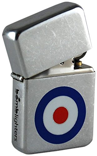 Mod Circle lighter. Street Chrome Finish. Ideal for fans of 60s, 80s mod revival, The Jam etc.