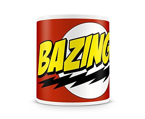 Offizielles Lizenzprodukt Bazinga Super Logo Kaffeetasse, Kaffeebecher