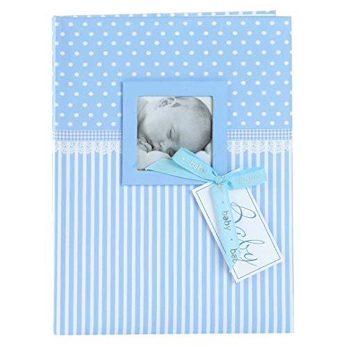 Goldbuch Babytagebuch mit Fensterausschnitt, Sweetheart, 21 x 28 cm, 44 illustrierte Seiten mit Pergamin-Trennblättern, Kunstdruck, Blau, 11802