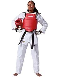 Kwon - Protección de cuerpo para competiciones (doble cara) multicolor rojo, azul Talla:4