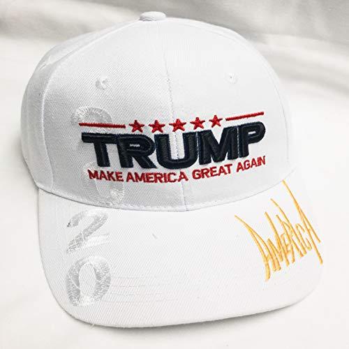 Stifte-Set Mall, exklusiv Bestickt Trump 20/20 Keep America Great Again 3D Signature Cap, 2020 White