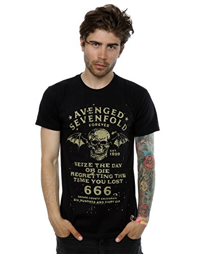 Avenged Sevenfold Herren Seize The Day T-Shirt XX-Large Schwarz - Revolution Tee Herren