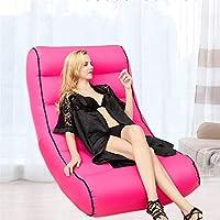 Alian Aufblasbarer fauler Sofa-Stuhl, Tragbare faltende luftgefüllte Strand-Ruhesessel, Wasserdichte Couch für Das im Freien kampierende Wandern des Strand-Fischen-Rose-Rotes