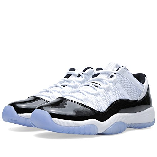 Nike Air Jordan 11 Retro Low Bg, Chaussures de Sport-Basketball Garçon, Gris Blanc