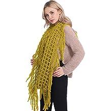 Echarpe Chaude Femme Hiver Tissée Portage Vintage Grande Chale au Crochet  Laine Tricotée Oversize Mode Foulard 800c7abf405