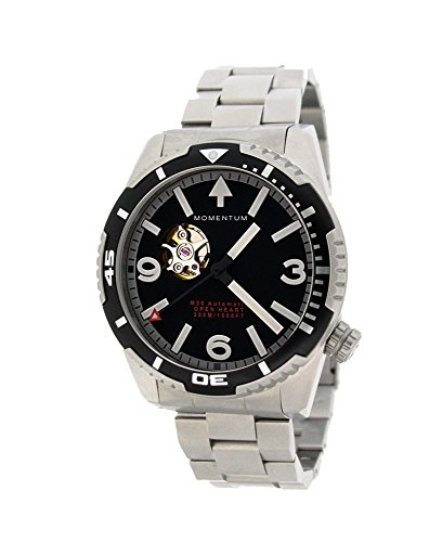 MOMENTUM MH30 Open Heart Automatic, Men's Dive Watch, Steel Bracelet