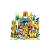 KTYXGKL des Blocs De Bois Empilés avec 200 Tablettes De Tonneaux À Scènes Doubles Contenant des Jouets Éducatifs Destinés À La Petite Enfance Jouets éducatifs pour Enfants