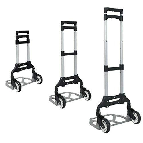 VDNSI Aluminium Stainless Steel 80 kg Multipurpose Foldable Hand Trolley