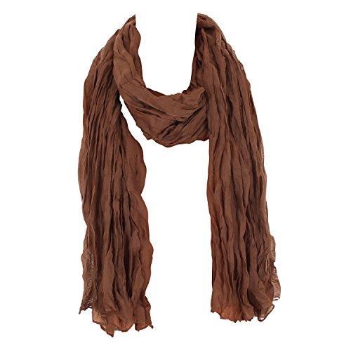 Leichter Damen Schal Nr. 374 viele Farben Braun