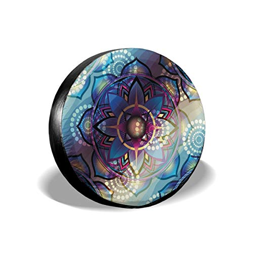 BBABYY Tire Cover Tire Cover Wheel Covers,Gradient Diagonal Mystic Symbols Geometric Alchemy Trippy Ethnic Motif with Ornaments,for SUV Truck Camper Travel Trailer Accessories 16 inch -