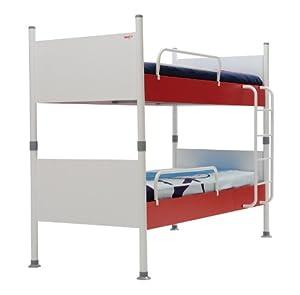 New Joy Nautica Childrens Bunk Bed, 175 x 100 x 210 cm, White