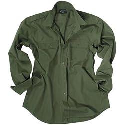 Mil-Tec RipStop Camisa manga larga Oliva Tamaño M