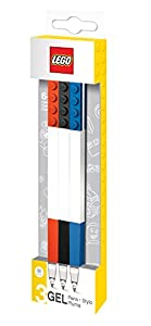 Lego Gel Pen Set - Red/Black/Blue