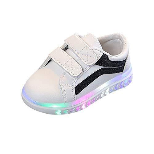 Banaa scarpe bambino con luci,scarpe luminose a led sneaker bling di scarpe sportive scarpe morbido caldo sneaker casuale invernali stivali