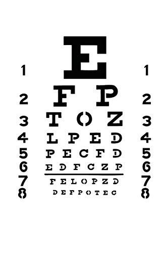 Eye Chart Notebook: Eye Chart with a Big E